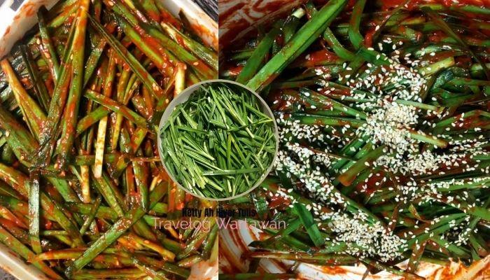 Paling Senang Buat Kimchi Daun Kucai, Olahan Resepi Maangchi